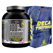 Kit 100 % Whey Definition 2kg Chocolate + Deca Testona C/ 60