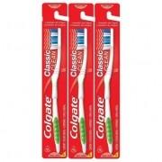 Kit 12 unidades Colgate Classic Escova Dental Macia