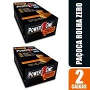 Kit 2 Paçoca Rolha Power One Zero com 24 unidades cada
