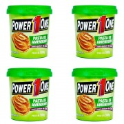 Kit 4 Power One Pasta Integral Amendoim 500g Açúcar De Coco