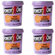 Kit 4 Power One Pasta Integral Amendoim 500g Pé de Moleque