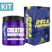 Kit Creatiny Monohydrate 300g + Deca Testona com 60 comprimidos
