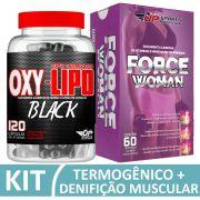 Kit Force Woman com 60 comprimidos + Oxy-Lipo Black 1700mg com 120 cápsulas