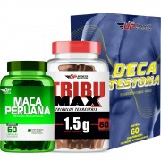 Kit Maca Peruana c/ 60 + Tribumax 1,5g c/ 60 + Deca Testona