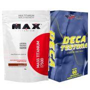 Kit Mass Titanium 17500 3kg Chocolate + Deca Testona Com 60 comprimidos