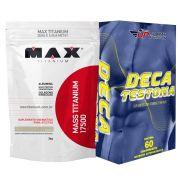 Kit Mass Titanium 17500 3kg Coco + Deca Testona Com 60 comprimidos