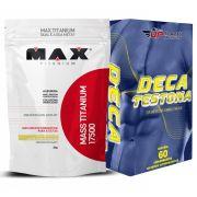 Kit Mass Titanium 17500 3kg Leite Condensado + Deca Testona com 60 comprimidos