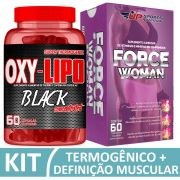 Kit Oxy-Lipo Black Concentrated com 60 cápsulas + Force Woman com 60 compirmidos