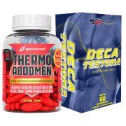 Kit Thermo Abdomen C/ 60 + Deca Testona Com 60 Comprimidos
