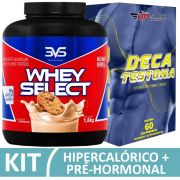 Kit Whey Select 1,8kg 3VS Cookies + Deca Testona com 60 comprimidos