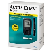 Medidor de Glicose Accu-Chek Active Completo com 50 Tiras