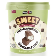 Pasta de Amendoim Sweet 500g Chocolate Coco Power 1 One