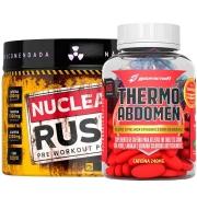 Pré Treino Nuclear Rush Limão + Thermo Abdomen c/ 60 comp