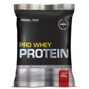 Pro Whey Protein Concentrado 500g Sabor Morango Probiótica