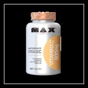 Vitamina C 500mg com 60 Cápsulas Max Titanium