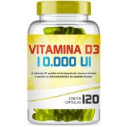 Vitamina D3 10.000 Ui com 120 Capsulas