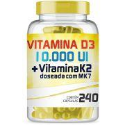 Vitamina D3 10.000 Ui + Vitamina K2 150mcg com 240 Cápsulas