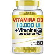 Vitamina D3 10.000ui + Vitamina K2 150mcg Com 60 Cápsulas