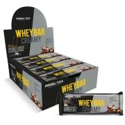 Whey Bar Creamy 12 Unidades 456g Sabor Amendoim Probiotica
