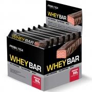 Whey Bar Whey Protein 24 Unidades Sabor Morango Probiótica