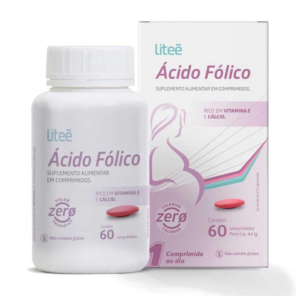 Acido Folico 355mcg com 60 comprimidos Litee