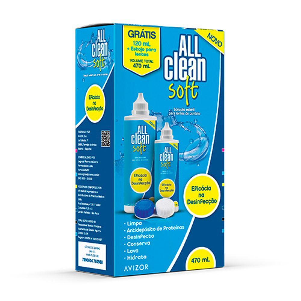 All Clean Soft Solução Para Lentes de Contato 350mL +120mL