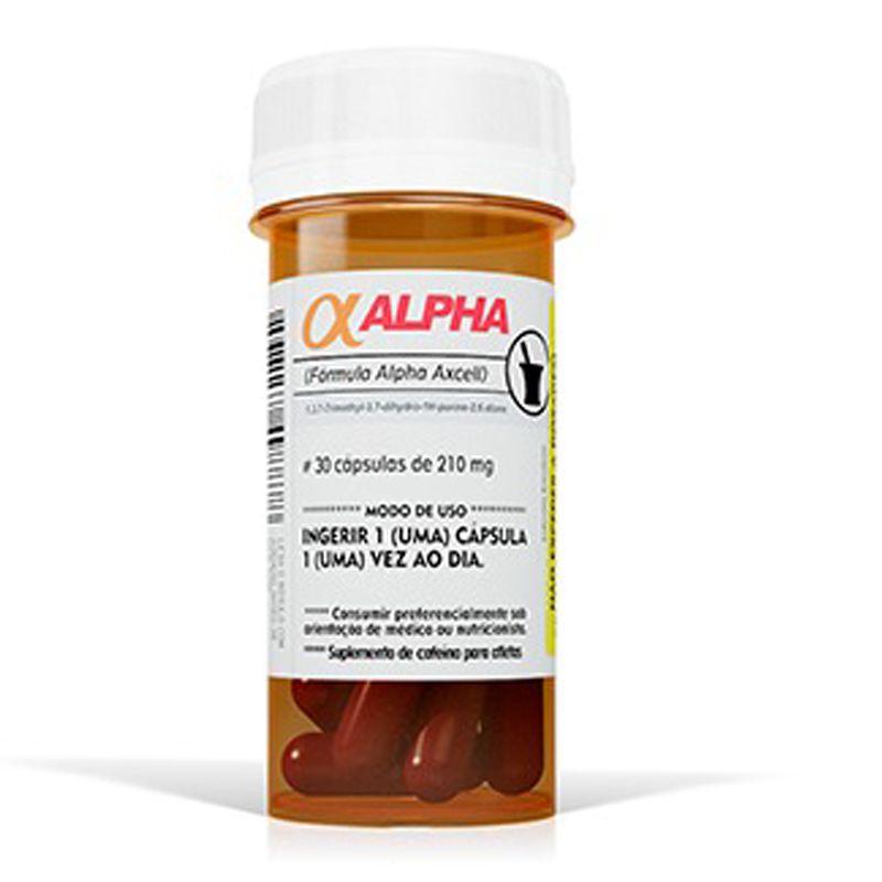 Alpha Axcell 210mg com 30 cápsulas - Power Supplements