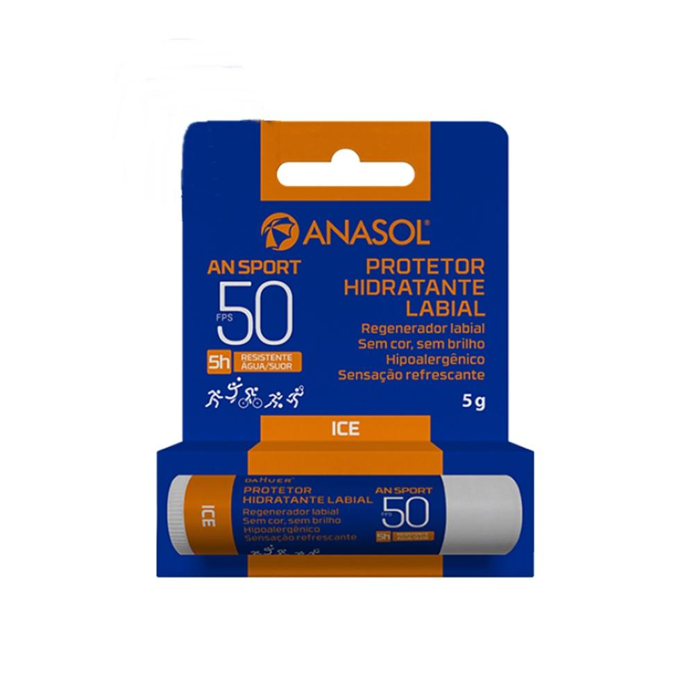 Anasol Protetor Solar Labial Fps 50 An Sport Resistente Água