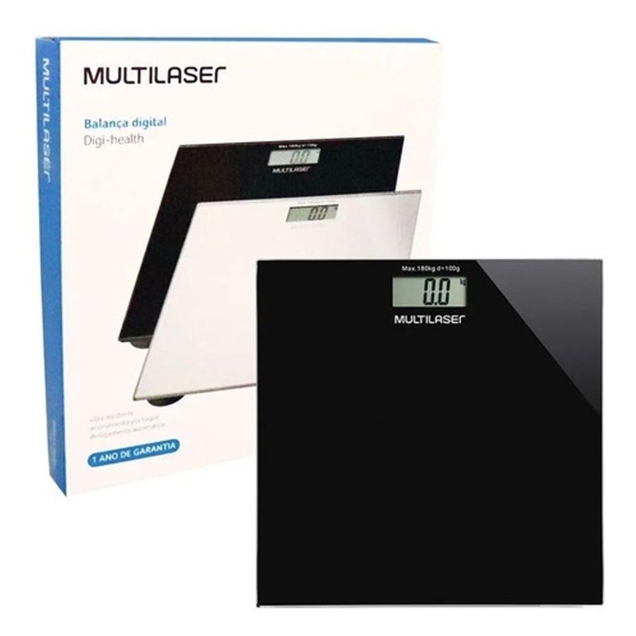 Balança Corporal Digital Multilaser Digi-Health Preto HC022