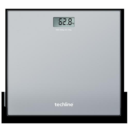Balança Digital de Peso Corporal TechLine TECSILVER