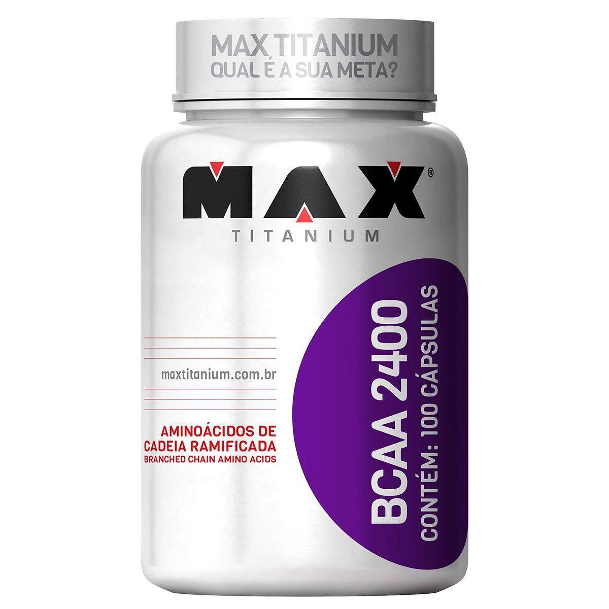 Bcaa 2400 com 100 Cápsulas Max Titanium