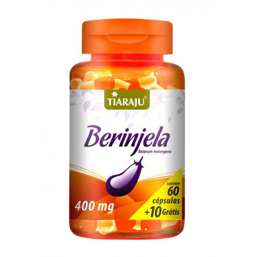 Berinjela (Solanum Melongena) 400mg com 70 cápsulas Tiaraju