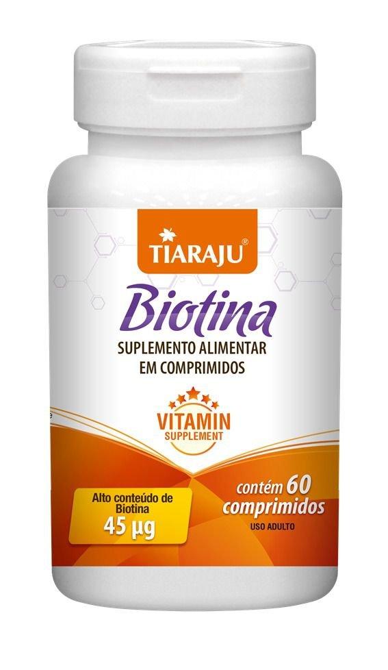 Biotina 45mcg com 60 comprimidos Tiaraju