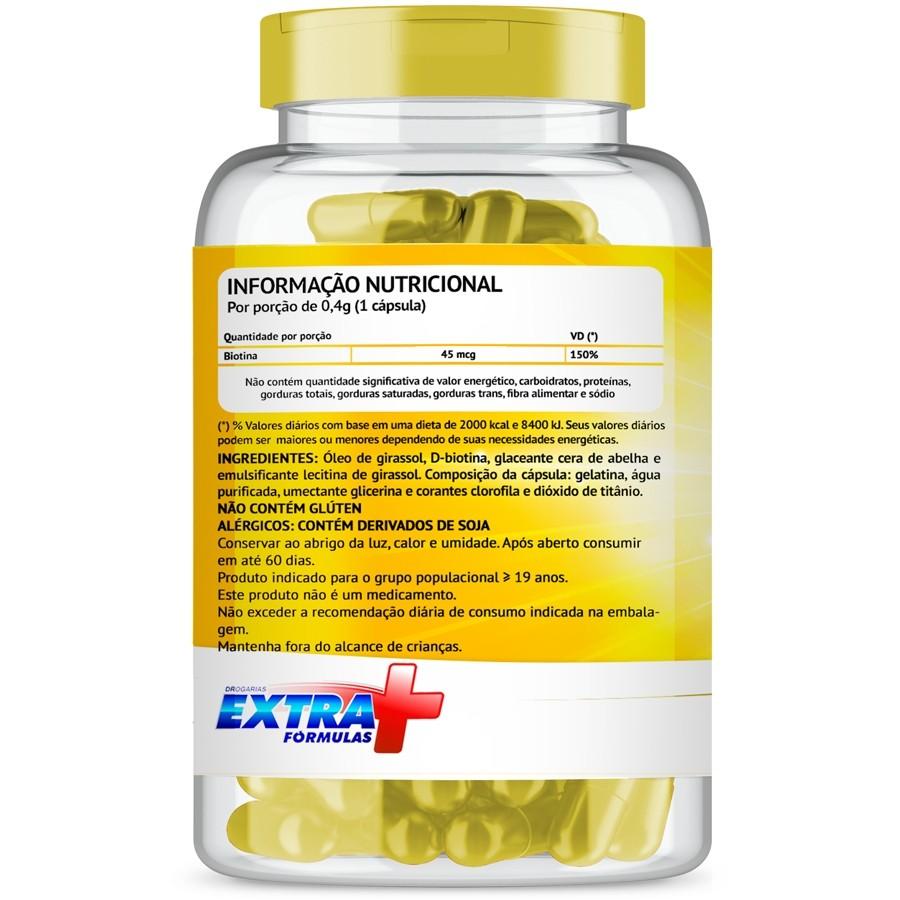 Biotina Firmeza e Crescimento com 60 cápsulas