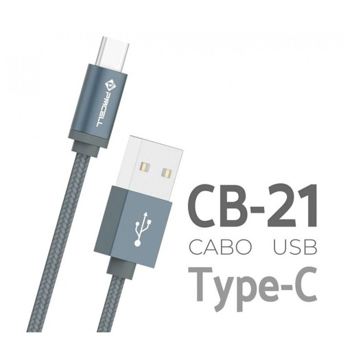 Cabo Type-C 2000mAh USB 1 Metro Cromo-879 PMCELL