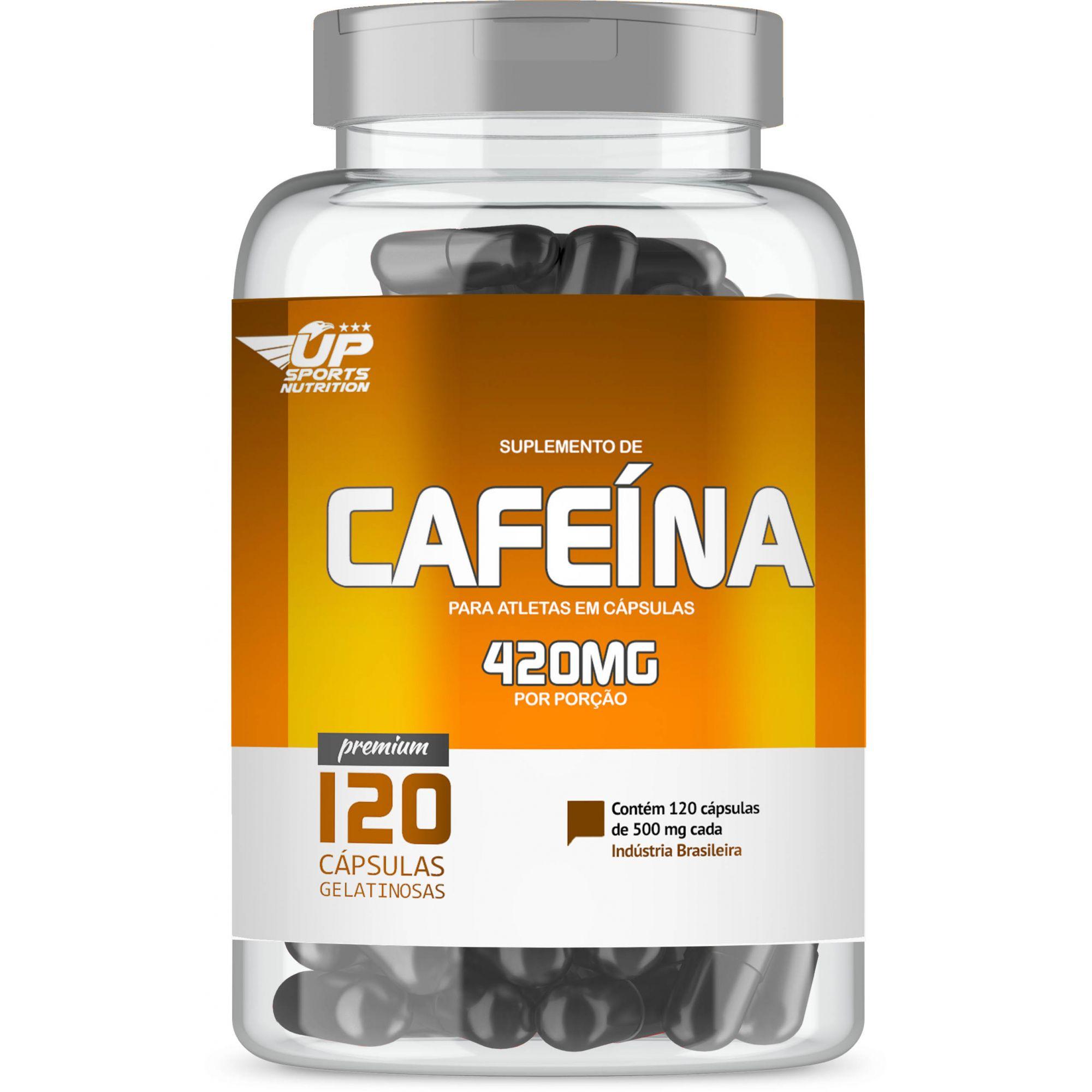 Cafeína 420mg com 120 cápsulas Up Sports Nutrition