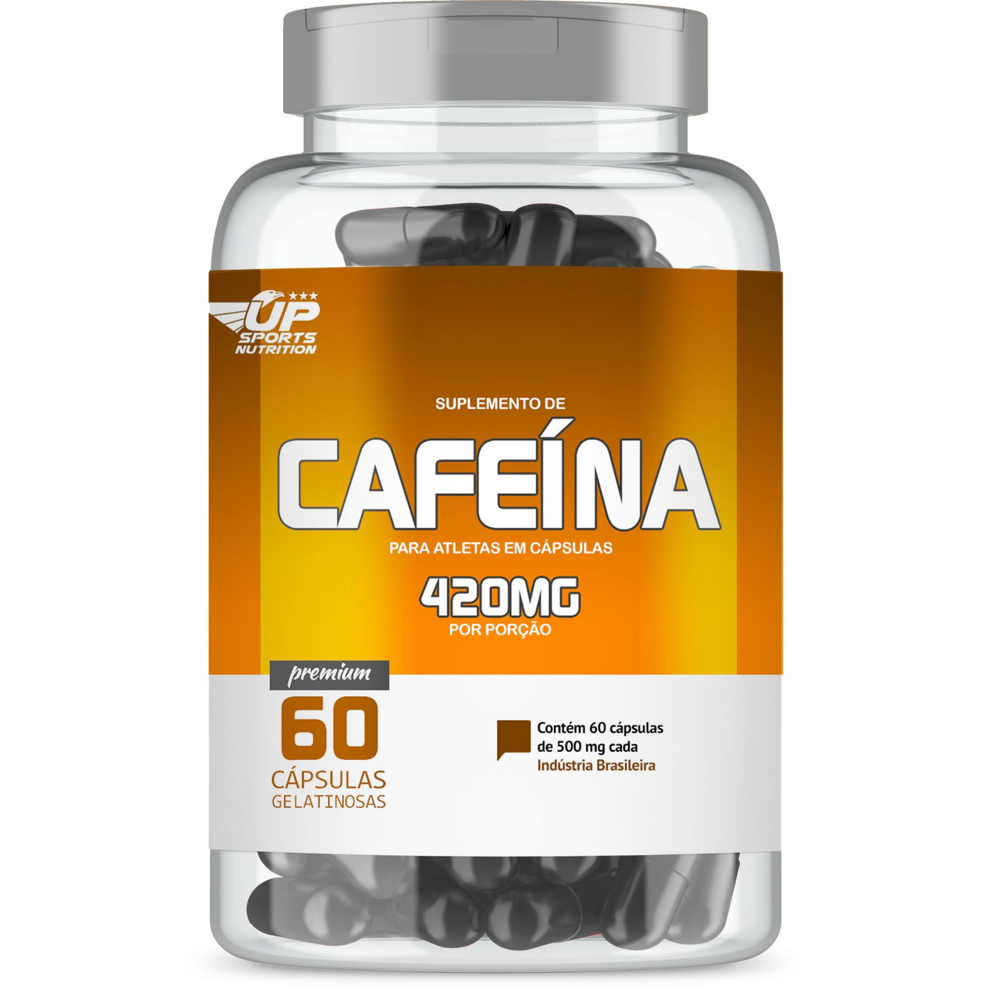 Cafeína 420mg com 60 cápsulas Up Sports Nutrition