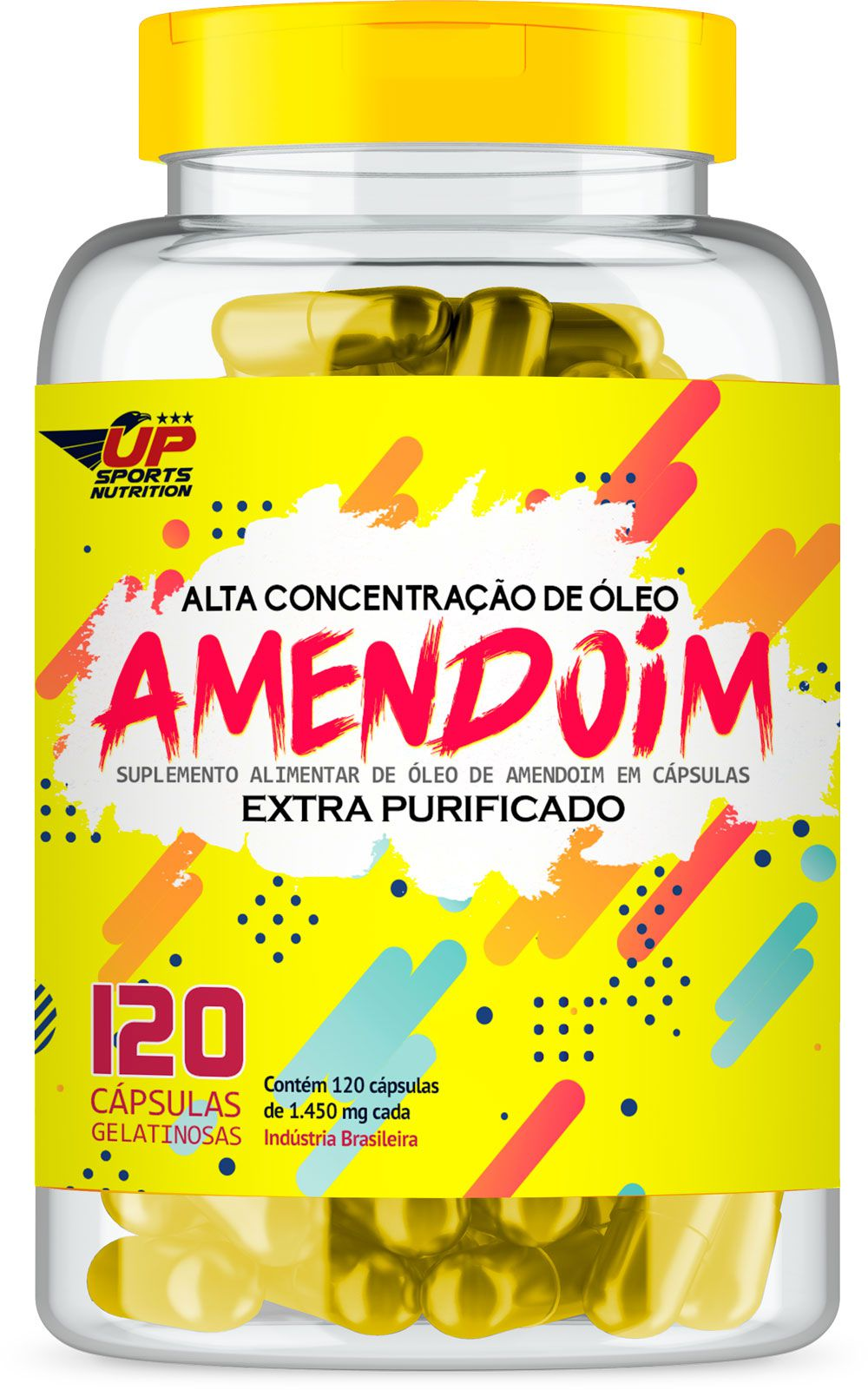 Cápsula De Amendoim 1450mg Com 120 Cápsulas Up Sports Nutrition
