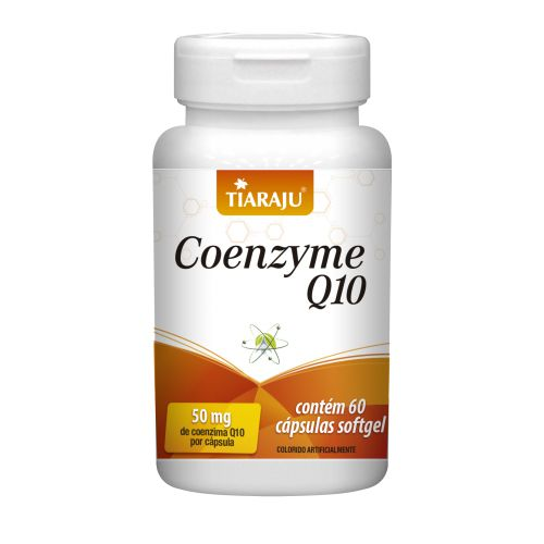 Coenzyme Q10 50mg com 60 cápsulas softgel Tiaraju