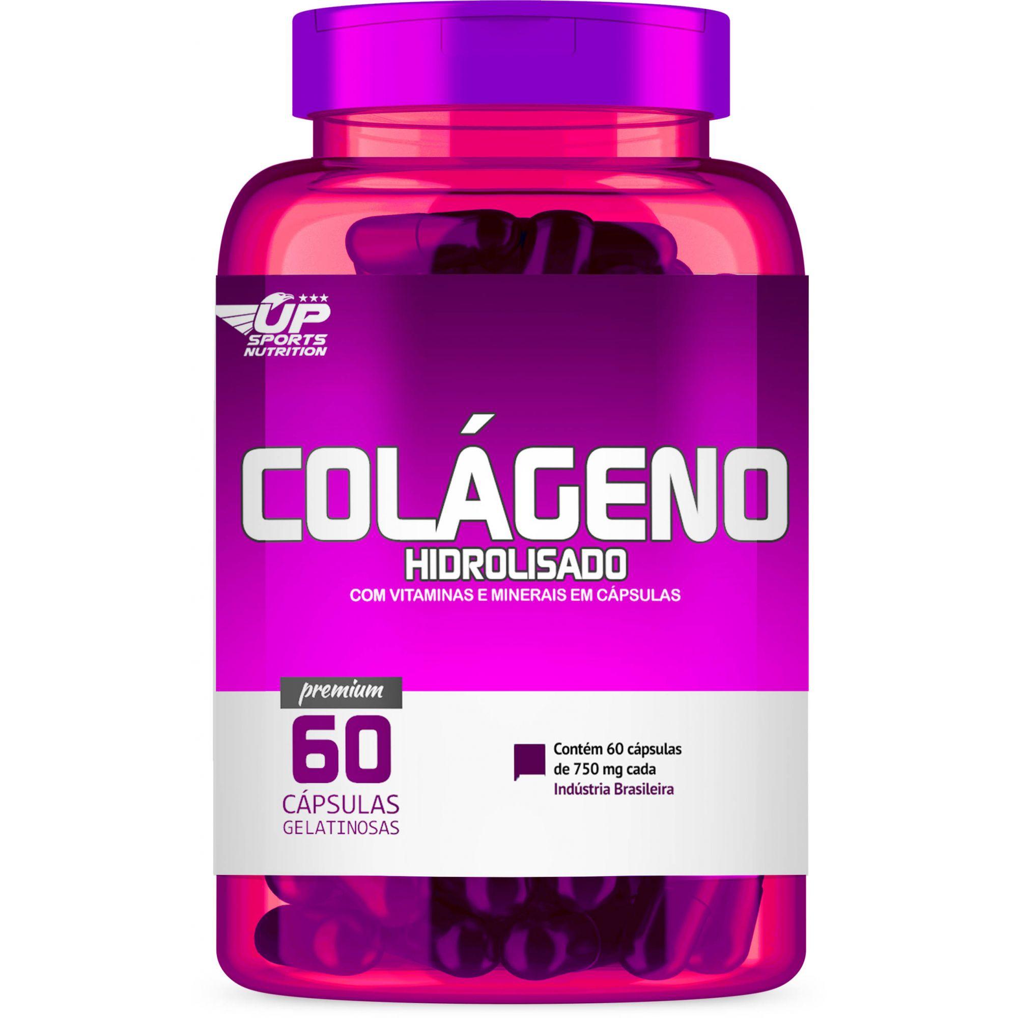 Colageno Hidrolisado 750mg com 60 cápsulas Up Sports Nutrition
