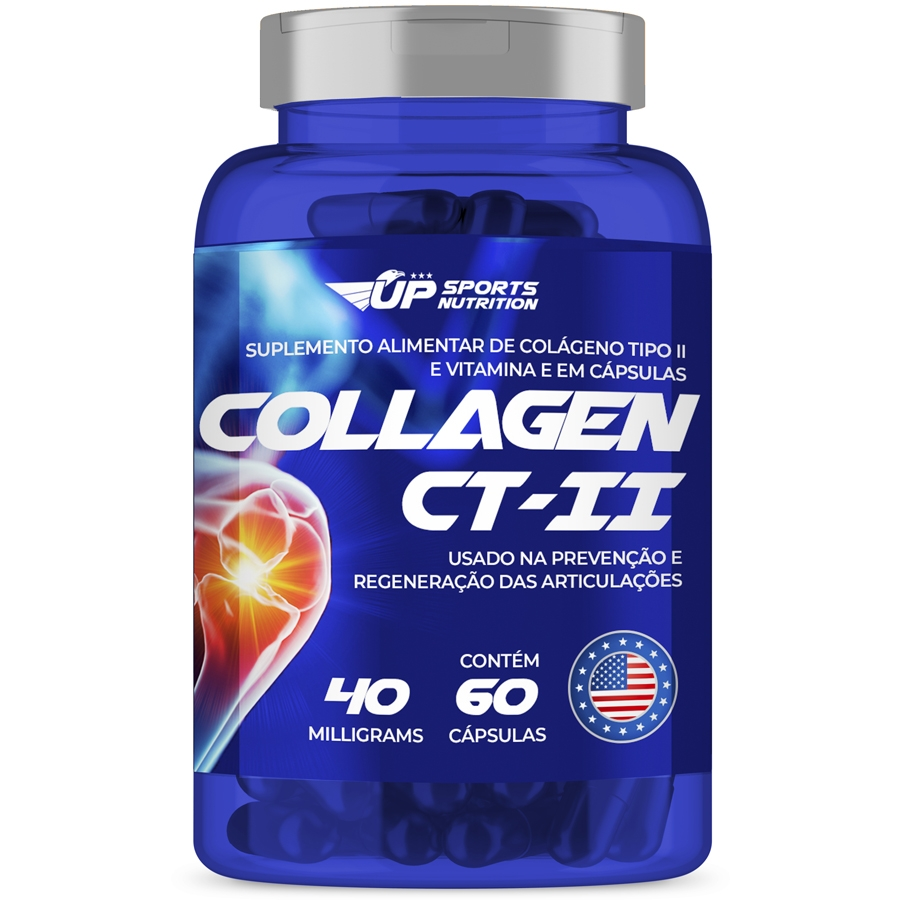 Colágeno Tipo 2 40mg com 60 cápsulas Contra Dor Articular