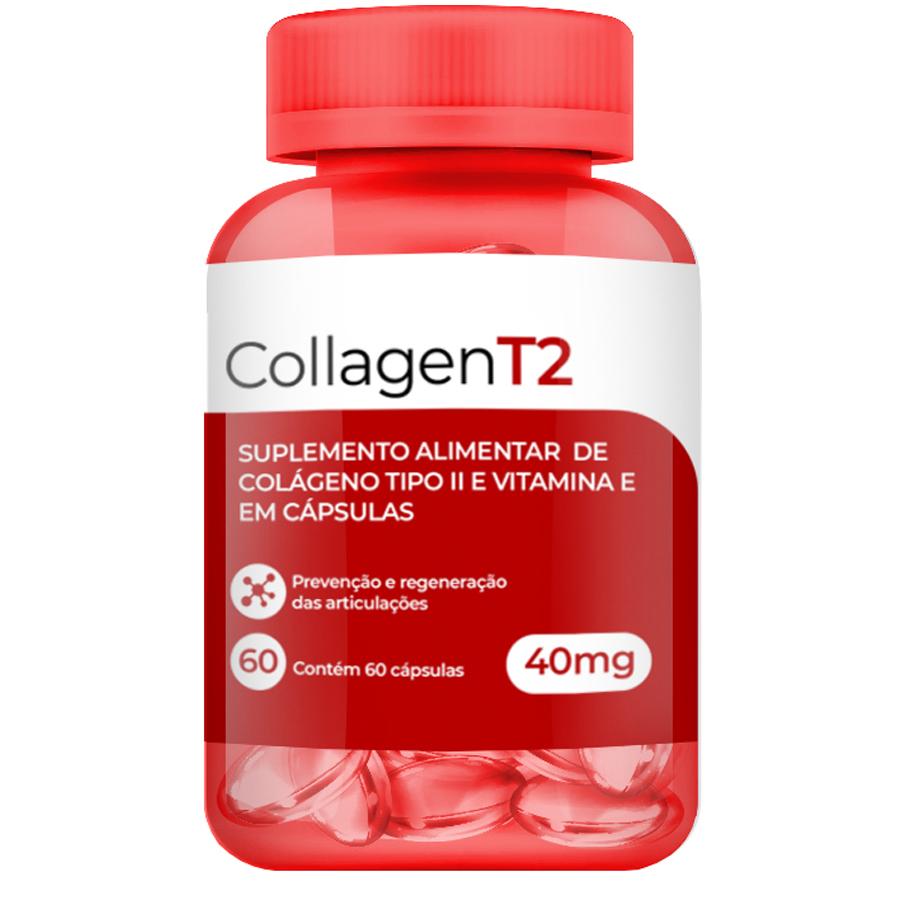 Colágeno Tipo 2 CT2 40mg c/ 60 Cápsulas Softgel Articulação