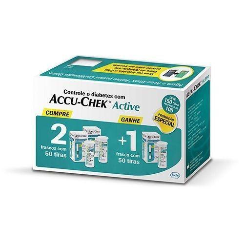 Combo Accu-chek Active Compre 2 Leve 3 C/ 50 unidades cada