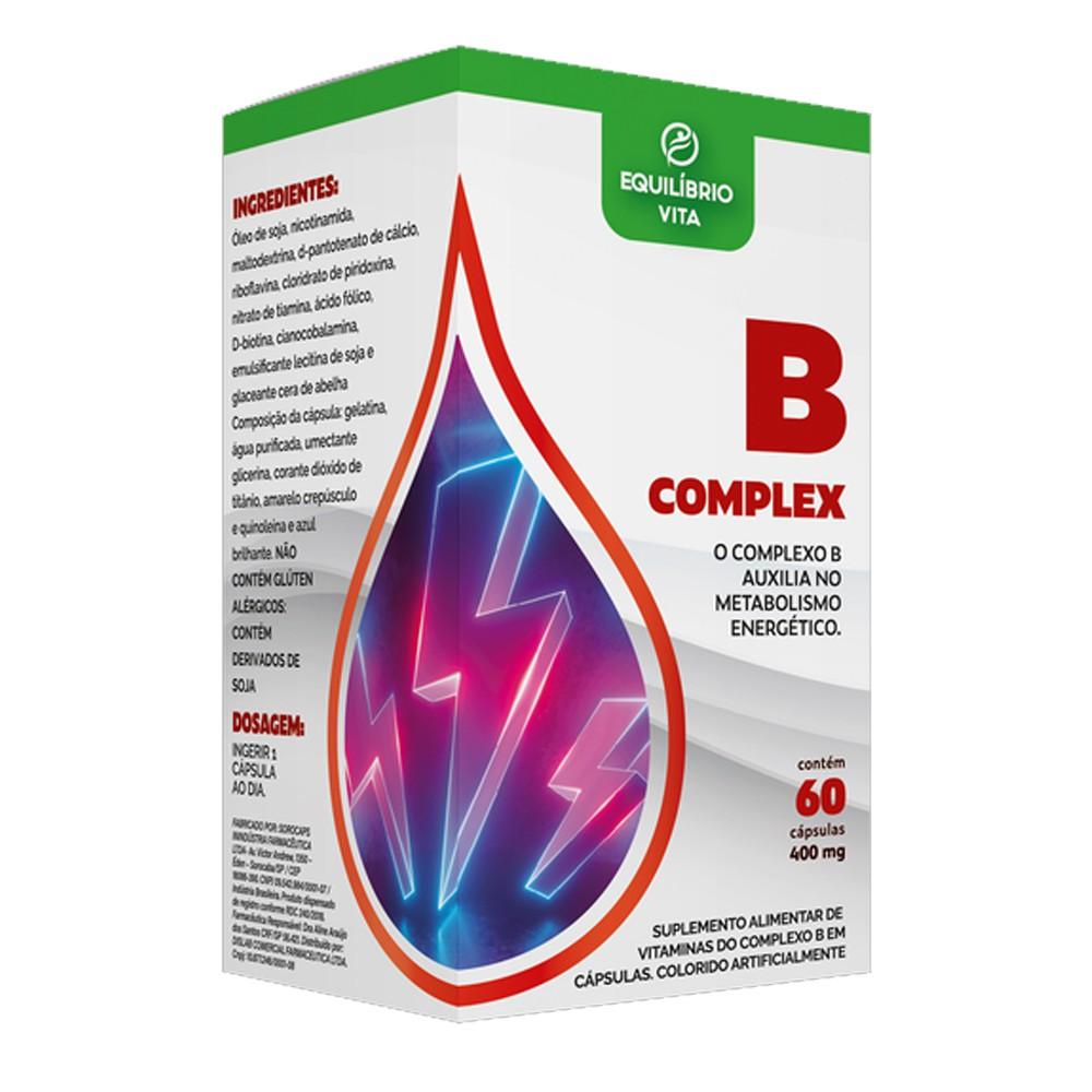 Complexo B 400mg com 60 cápsulas Equilibrio Vita