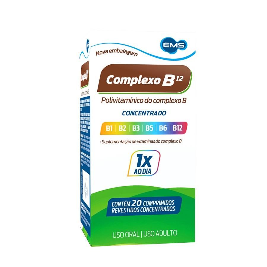 Complexo B Concentrado com 20 comprimidos EMS