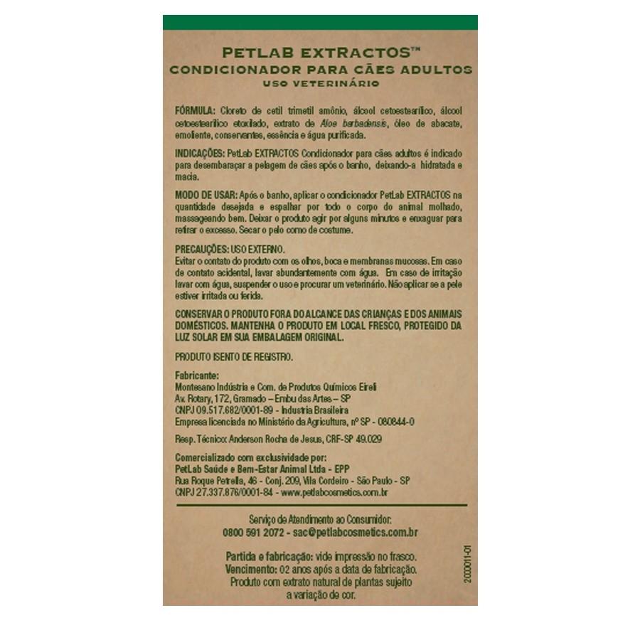 Condicionador cães adultos 300mL Abacate e Aloe Vera PetLab
