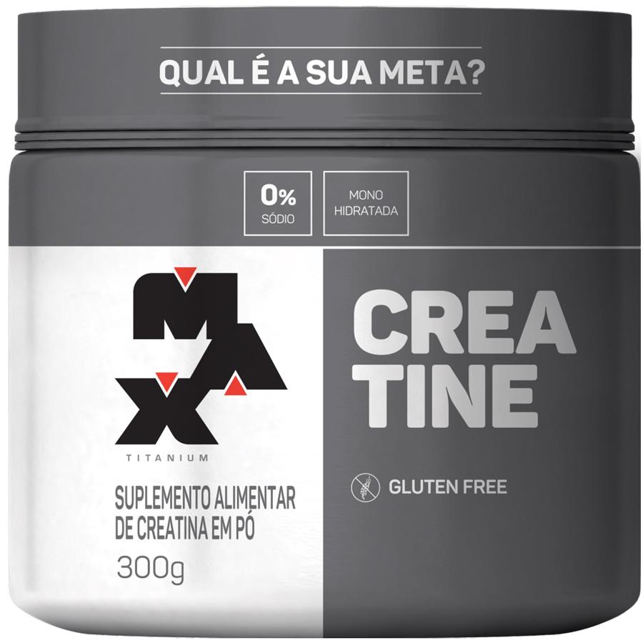 Creatina Monohidratada 0% Sódio 300g Max Titanium