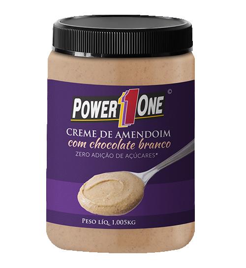 Creme de Amendoim com Chocolate Branco 1kg - Power 1 One
