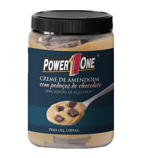 Creme de Amendoim com Pedaços de Chocolate 1kg - Power 1 One