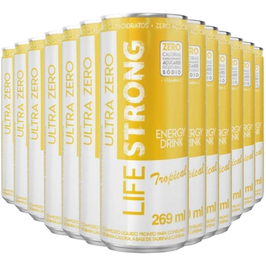Energético Life Strong Energy Drink 12 unidades Tropical
